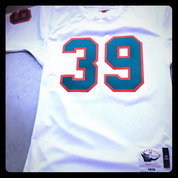 hot sale online 25aaa 1e441 Larry Csonka 72 Mitchell & Ness Dolphins Jersey